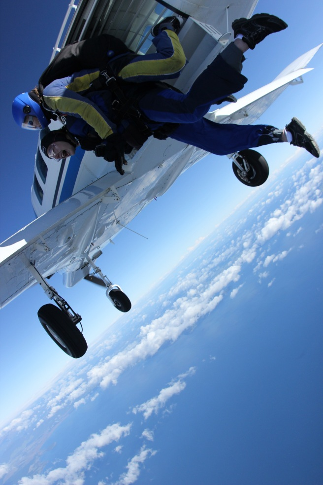 Me just falling out of the plane!