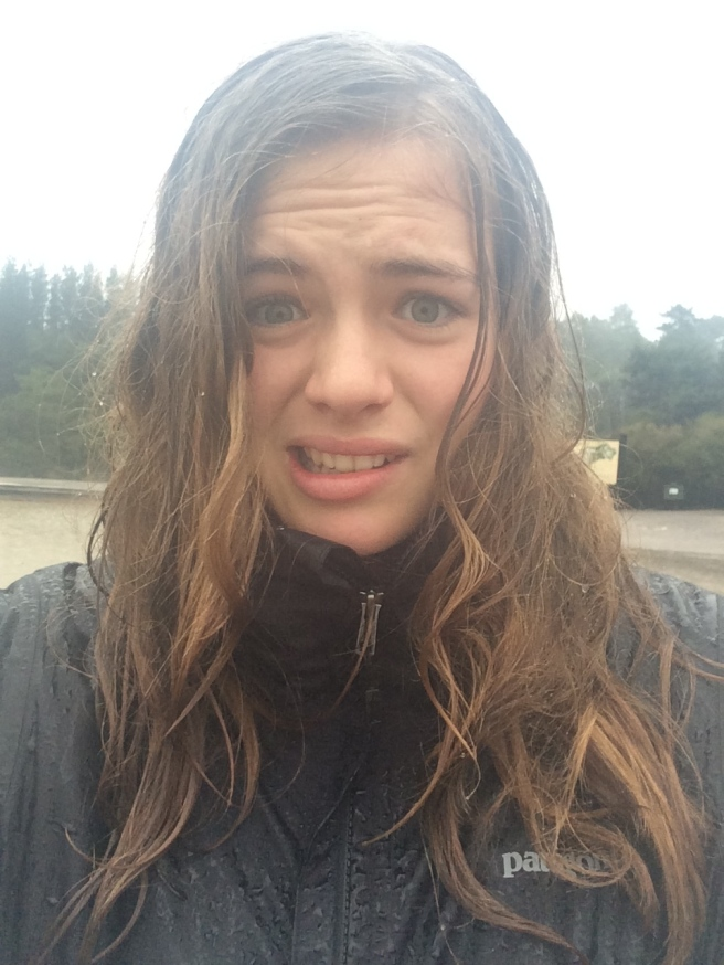 looking like a drowned rat!