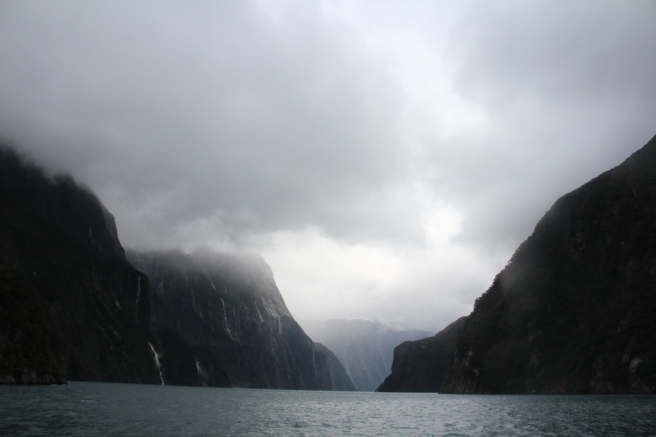 Coming back into Milford Sound