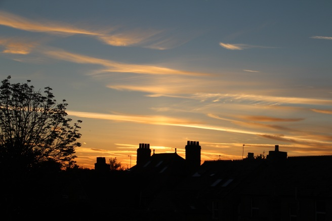 Can never resist a sunset picture. Taken from my window!